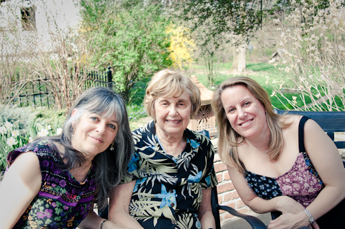 From left to right my mom, grandmother and cousin Wendy.
